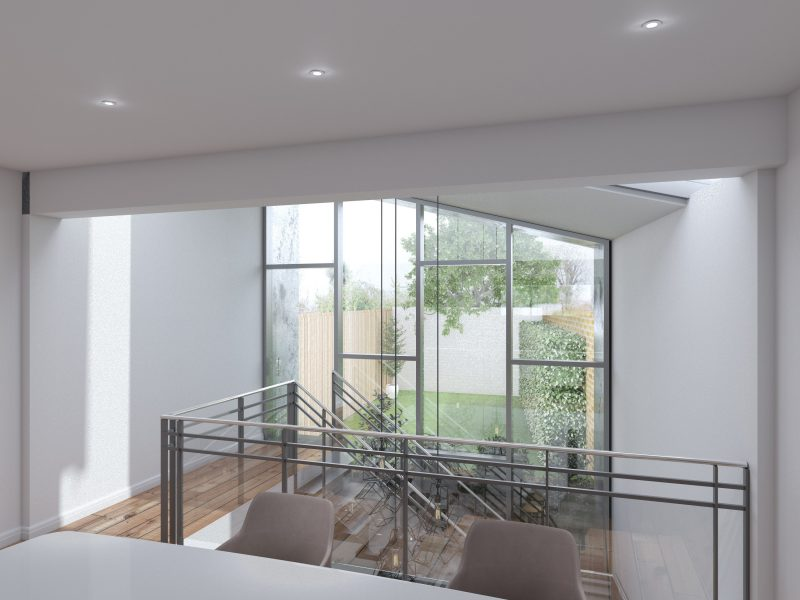 Downsfield Road, rear extension.